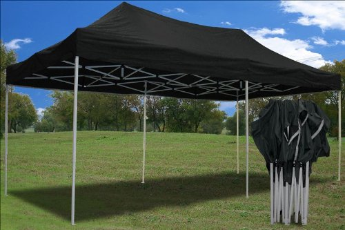 Amazon.com  10u0027x20u0027 Ez Pop up Canopy Party Tent Instant Gazebos 100% Waterproof Top with 6 Removable Sides Black - E Model By DELTA Canopies  Outdoor ... : black tents - memphite.com