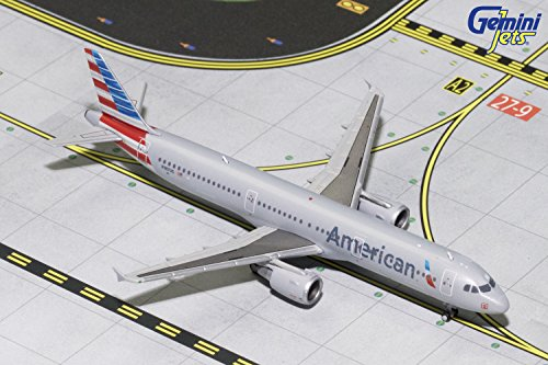 GeminiJets American Airlines A321 N187US 1:400 Scale Diecast Model Airplane, Gray