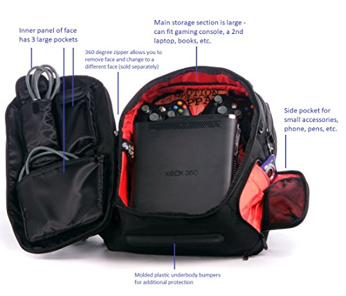 SLAPPA MASK Hi-Five Checkpoint Friendly 17 inch Gaming and Travel Backpack,tons of storage,Ultimate Protection by Slappa (Image #2)