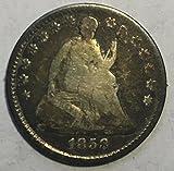 #10: 1858 P Seated Liberty Beautiful Half Dime Fine Condition