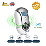 TangN Ultrasonic Electromagnetic Pest Repellent Electronic Control Smart Mosquito Repeller Plug in Home Indoor and Warehouse Get Rid of bug,rats,squirrel,Flea,Roaches,Rodent,Insect[2018 (grey)