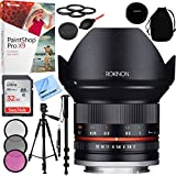Rokinon 12mm F2.0 Ultra Wide Angle Lens for Sony E Mount with Sandisk 32GB SDHC Memory Card Plus 67mm Filter Sets and Accessories Bundle