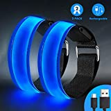 lanpard Rechargeable LED Armband | High Visibility Led Running Lights for Runners | Reflective Running Gear Light Up Armbands Reflectors | Running Gift Accessories for Men/Women/Kids/Pets