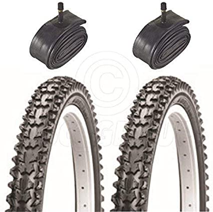 With Schrader Tubes 2 Bicycle Tyres Bike Tires 14 x 2.125 Mountain Bike