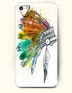 Phone Case For iPhone 5 5S Tribal Symbol - Hard Back Plastic Case / Oil Painting / OOFIT Authentic