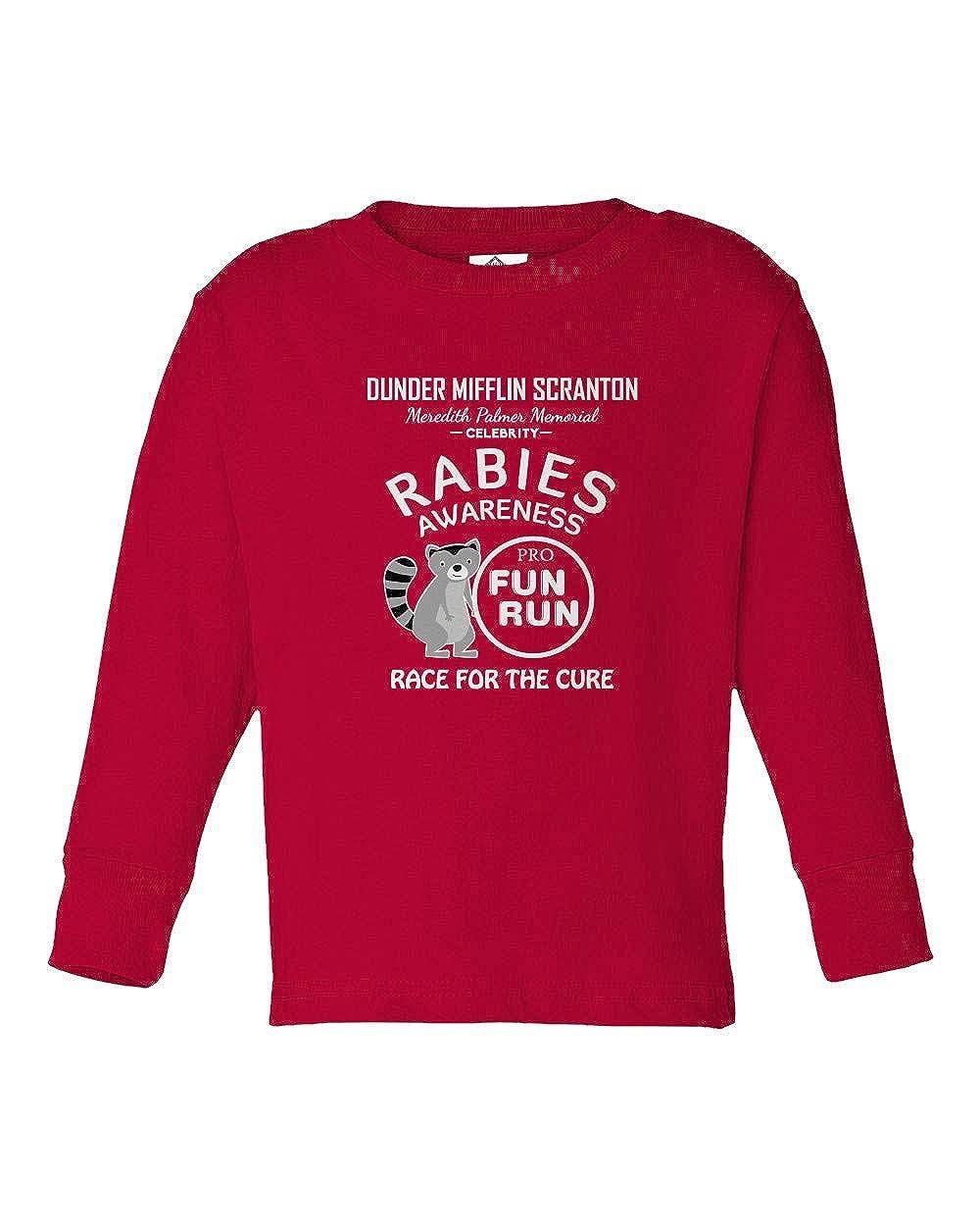 Rabies Awareness Dunder Mifflin Fun Run Little Kids Long Sleeve Toddler T-Shirt