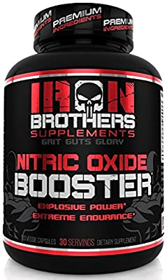 Nitric Oxide Supplements NO2 Booster Pre workout Increase Muscle Building Pump Blood Flow Energy Strength Endurance Powerful Pills/Capsules with Arginine - Citrulline Best Men Natural Boost 30 Serving