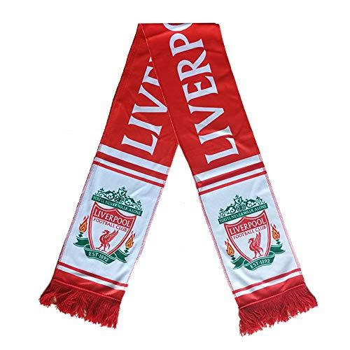 Qzlclub Football Club Team Scarf Soccer Fan Double Sided Knitted Scarf (Liverpool) (Football Team Scarf)