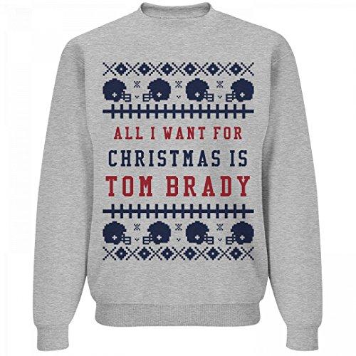 Ugly Sweater Mrs. Brady: Unisex Jerzees Crewneck Sweatshirt Patriots Crewneck