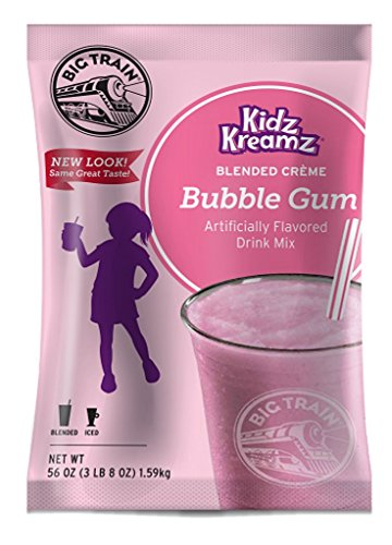 - Big Train Blended Creme Kidz Kreamz, Bubble Gum, 3.5 Pound
