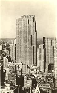 1930s Vintage Postcard RCA Building Rockefeller Center New York City