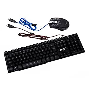 keyboard mouse combo thzy rainbow backlit wired gaming keyboard and mouse combo. Black Bedroom Furniture Sets. Home Design Ideas