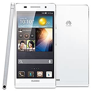 Huawei Ascend P6 3G Unlocked 4.7 inch RAM 2GB ROM 8GB Android 4.2 K3V2E Quad Core 1.5GHz Smartphone IPS LCD Screen 8MP WCDMA & GSM (White)