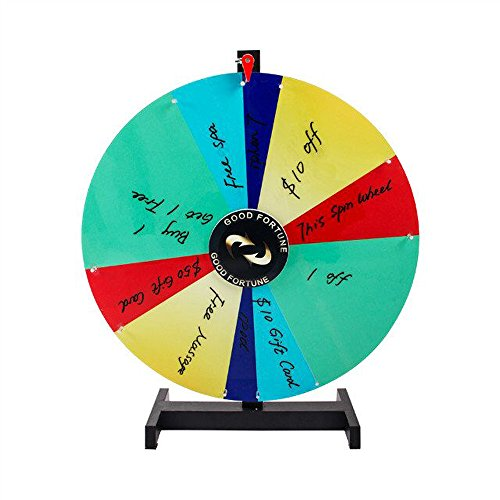 Tabletop Spinning Prize Wheel 10 Slots with Color Dry Erase (24'' ( Irregular ))