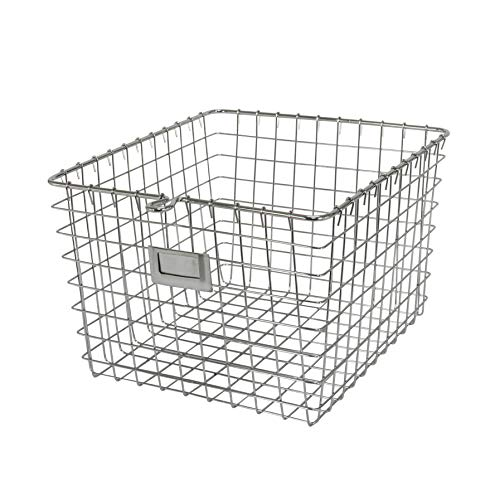- Spectrum Diversified Wire Storage Basket, Medium, Chrome