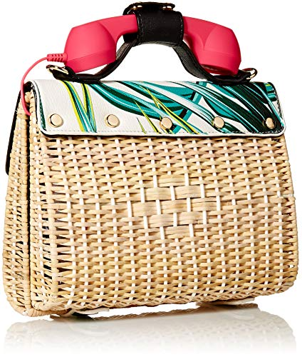 Print Bag Phone Palm Multi Betsey womens Wicker Johnson vwqxYfIH