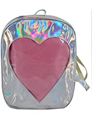 Felice Girls Hologram Laser Backpack Love Heart Daypack Rucksack Shoulder Bag