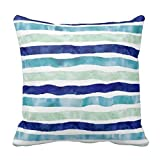 img - for Navy Blue Mint Watercolor Pattern 18*18 pillow Case book / textbook / text book