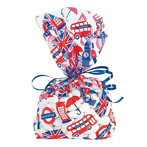 Fun Express - Royal Baby Shower Cello Bags for Baby - Party Supplies - Bags - Cellophane Bags - Baby - 12 Pieces -