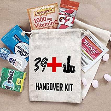 30th Birthday Party Gifts Bags 1 Middle Finger Hangover Kit Bags for 30th Birthday Party Set of 10 29