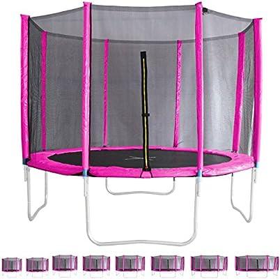 Miganeo® – Red de seguridad rosa para trampolín 244 – 305 – 366 ...