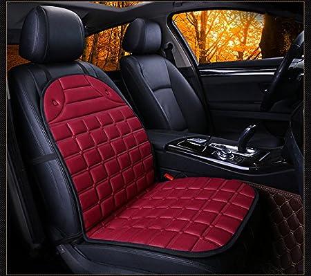 HCMAX Auto Coprisedile Riscaldato Cuscino 12V Riscaldamento più Caldo Tampone Caldo Copertina Freddo Inverno con Regolatore di Temperatura a 3 Vie
