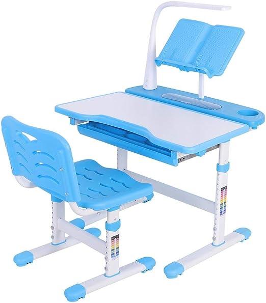 Liusing – Juego de Mesa y Mesa de Escritorio para niños de 3 a 12 años con lámpara LED para Leer (Azul): Amazon.es: Juguetes y juegos