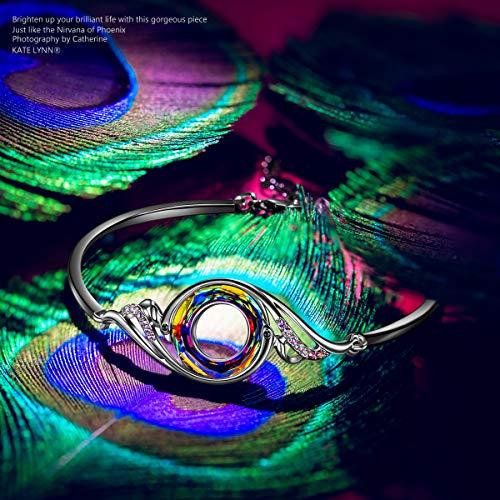 عروض Kate Lynn Woman's ❤️Nirvana of Phoenix❤️ Swarovski Crystals Bracelet, Pendant Necklace Chain Length 18.0