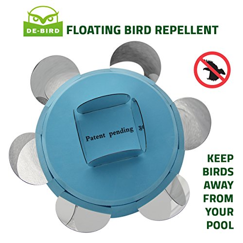 De bird floating pool repellent bird repellent for scaring birds from your swimming pool for Duck repellent for swimming pools
