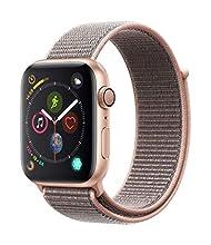 Apple Watch Series 4 (GPS, 44mm) Aluminio en Oro - Correa Loop Deportiva Rosa Arena