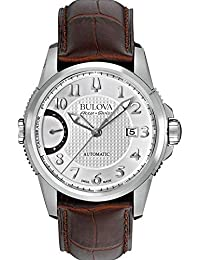 Bulova Men's 63B171 Mechanical-Hand-Wind Silver Watch