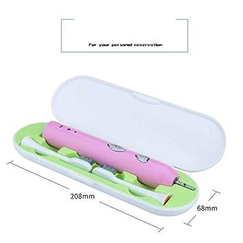 SPFAZJ Cepillo de Dientes eléctrico Sonic inalámbrico inductivo de Carga con Caja de portátil Travel Smart Cepillo de Dientes: Amazon.es: Jardín
