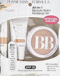 Physicians Formula Super BB All-In-1 Beauty Balm Kit - Concealer: 0.14 Ounce, Cream: 1.2 Fluid Ounce & Powder: 0.29 Ounce