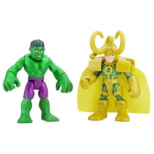 (Playskool Heroes Marvel Super Hero Adventures Hulk and Loki)