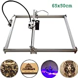MYSWEETY Laser Engraver, 1000mW 65x50cm 2 Axis DIY Desktop Printer Logo Picture Marking, Wood Carving Engraving Cutting Machine for Leather Wood Plastic