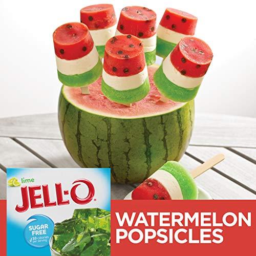 Jell-O Sugar-Free Lime Gelatin Dessert Mix, 0.3 oz Box by Jell-O (Image #4)