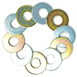 "5 Yellow/5 Silver Replacement 2-1/2"" Washer Toss Pitching Game Washers (Zinc Coated)"