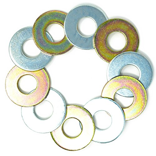 5 Yellow/5 Silver Replacement 2-1/2 Washer Toss Pitching Game Washers (Zinc Coated)