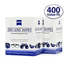 Zeiss Pre-Moistened Lens Cleaning Wipes - Cleans Bacteria, Germs and without Streaks for Eyeglasses and Sunglasses-(400 Count)