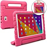 Cooper Dynamo Kids case Compatible with Galaxy Tab A 10.1 | Shock Proof Heavy Duty Kidproof Cover for Kids | Girls, Boys | Kid Friendly Handle & Stand, Screen Protector | Samsung SM-T580 T585 (Pink)