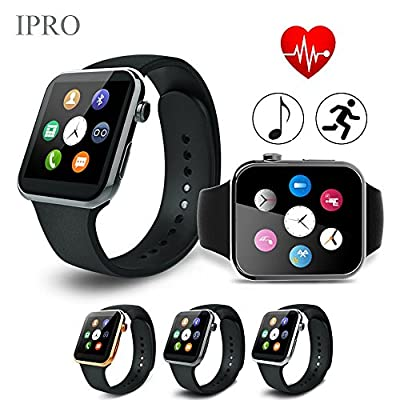 Fitness Tracker with Heart Rate Monitor,IPRO IOS iphone/Android Smart Activity Pedometer Watch Children GPS Bracelet Health Exercise Wristband with Stopwatch/Remote Camera-A9