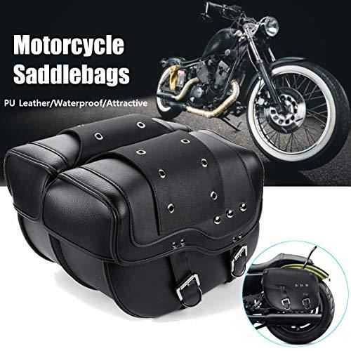 - KingSo 2Pcs For Harley Sportster 1200 Xl 883 Waterproof Saddlebags Tour Set Zip-Off - DD16
