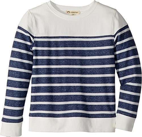 Washed Crewneck Sweater (Appaman Kids Baby Boy's Vintage Washed Soft Striped Crew Neck Sweatshirt (Toddler/Little Kids/Big Kids) Heather Navy Stripe 14)