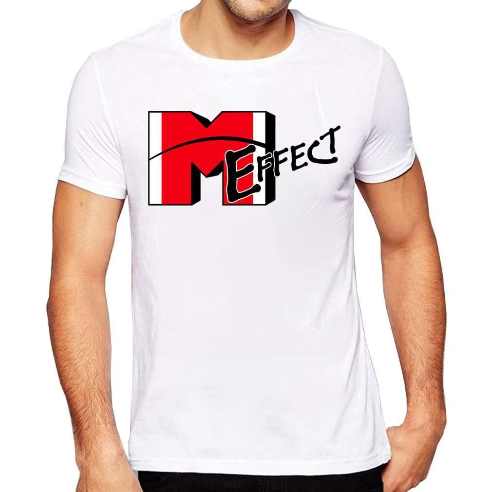 JMGIRL Effect Mens Top Fahion Tees Printed Shirts Short Sleeve T-Shirt Summer Casual Blouse