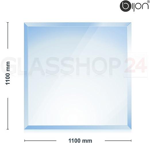 con biselado de 18/mm Placa de vidrio de 6/mm para chimenea Bijon/® Rechteck 500x1000mm