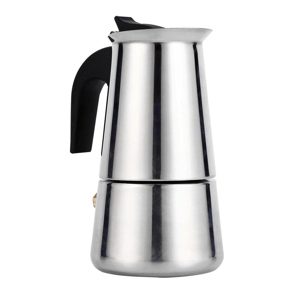 Ymiko Stainless Steel Moka Pot Espresso Coffee Maker Stove(100ml)