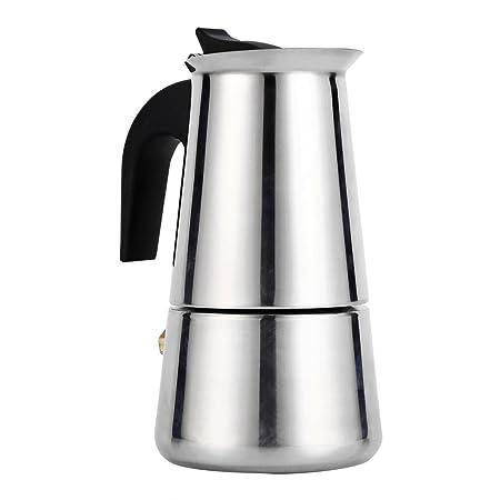 Cafetera para hacer espresso, cafetera italiana reutilizable de café Moka con mango de baquelita Moka Express para la casa, la oficina.(100ml)