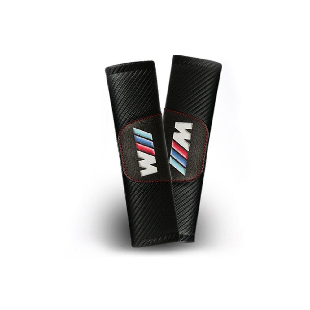 S-Weka Customization Carbon Fiber Seat Belt Cover Shoulder Pad Cushion BMW(2 pcs)