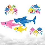 Baby Shark Bath Art Creations by Horizon Group USA, Draw Fun & Exciting Washable Artwork During Bath Time. Dissolvable & Washable Paints, Crayons & Stickers Included, Multicolored