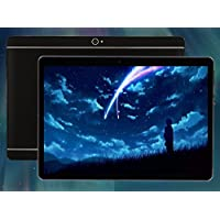 10.1 inch Android 7.0 Tablet PC Octa Core HD Display 2560x1600 4G Call Tablets 4GB RAM 64GB Dual SIM Card 8.0MP Wi-Fi Bluetooth Tablet PC (Black)